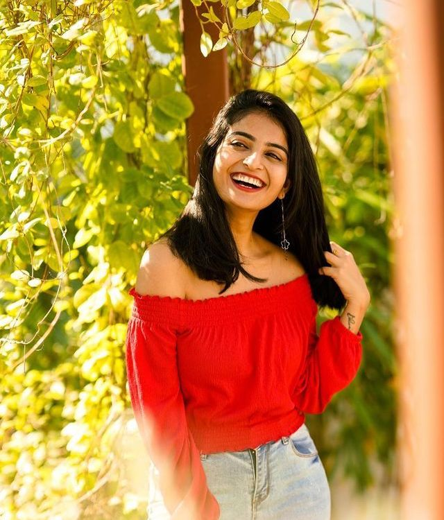 Ananya Nagalla Looks Gorgeous in Red Top