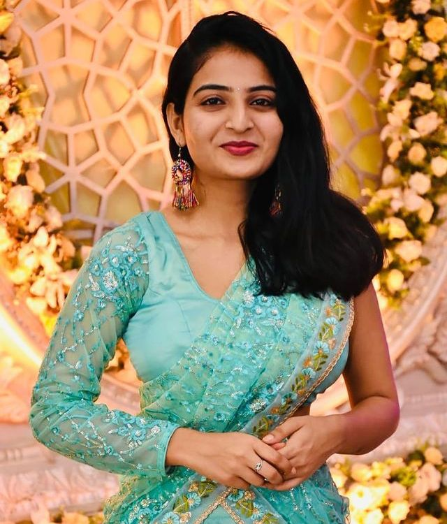 Ananya Nagalla Looks Hot and Gorgeous Peacock Color Dress