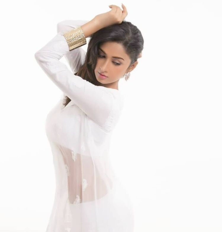 Farnaz Shetty Looks Hot in White Color Casuals