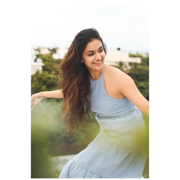 Keerthi Suresh Looks Hot and Sexy with smile